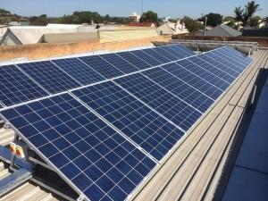 commercial solar power installation