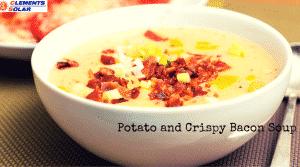 potato and crispy bacon soup