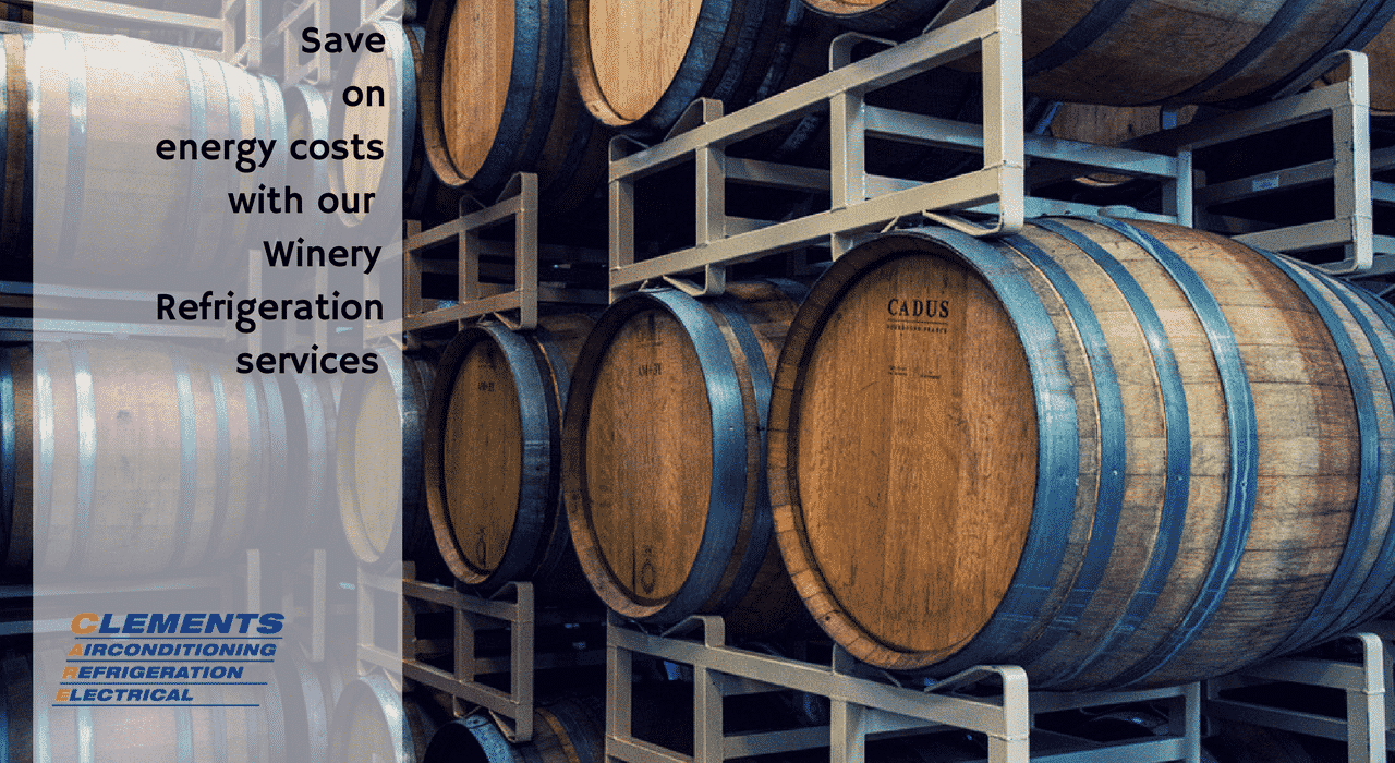 Save on energy costs with our Winery Refrigeration services