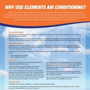 why use clements air conditioning