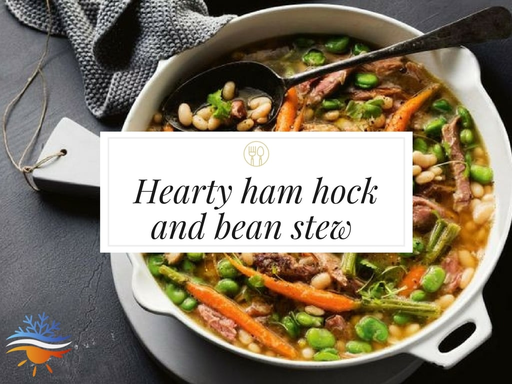 Hearty ham hock and bean stew