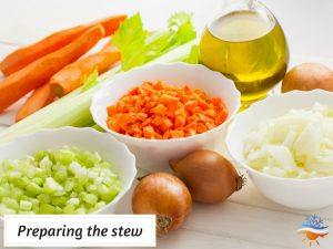 preparing the stew