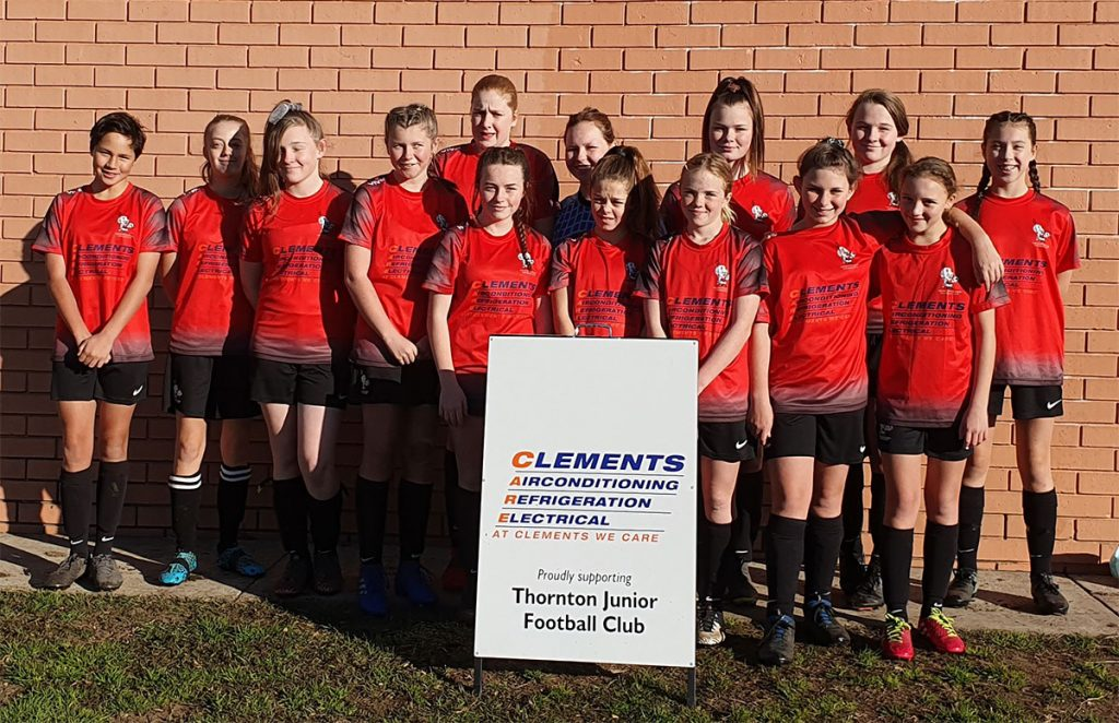 Thornton Junior Football Club Clements Air Conditioning Maitland Sponsors