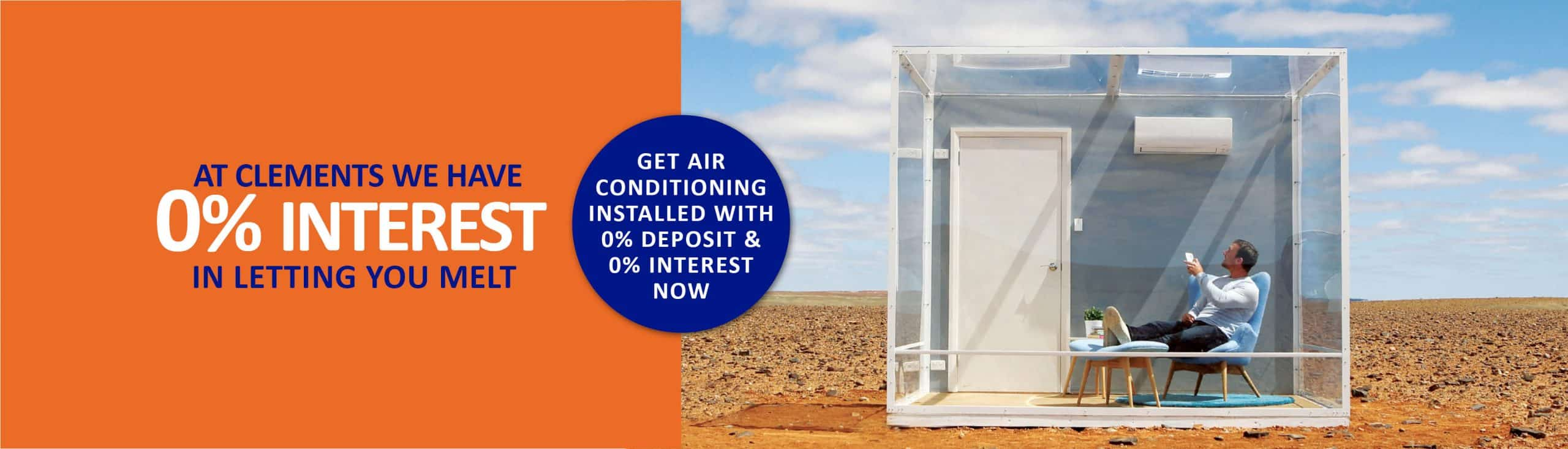 0% interest in letting you melt clements air conditioning